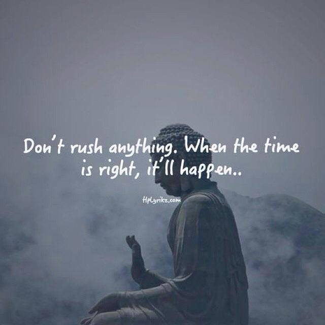 Don't rush :)